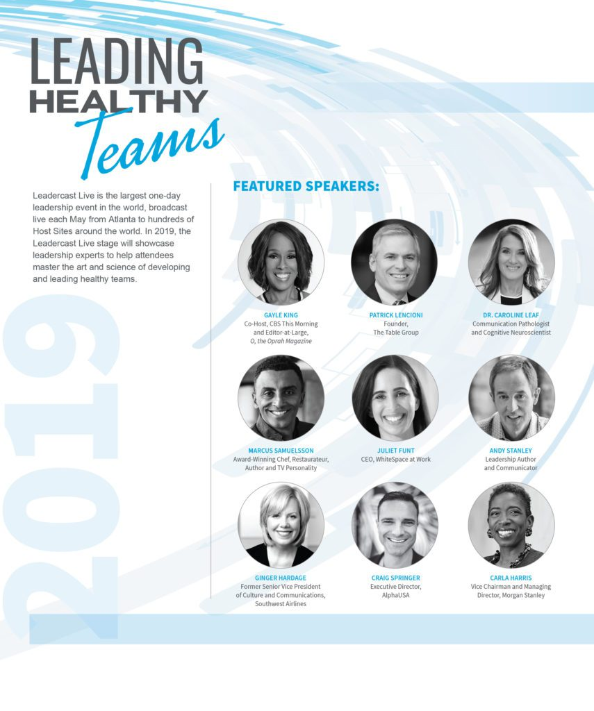 Speakers for Leadercast Flexcast 2019
